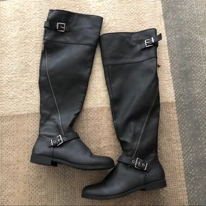 Aldo Black Ridding Boots Size 9